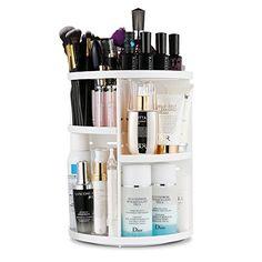Jerrybox 360 Degree Rotation Makeup Organizer Adjustable ...