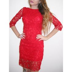 14.99$  Buy here - http://diqbx.justgood.pw/go.php?t=163447102 - Sexy Slash Collar 3/4 Sleeve Backless Cut Out Women's Lace Dress