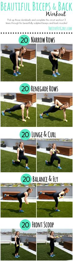Build Beautiful Biceps and Back with this strength workout!