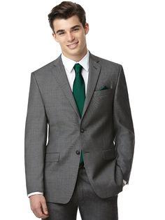 Dessy Yarn Dyed Necktie Groomsmen Accessory in Emerald Green