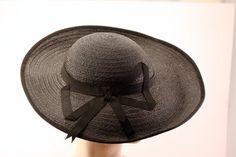 Vintage Emme New York Navy Blue Brimmed Hat by VintageVintageGirl, $39.00