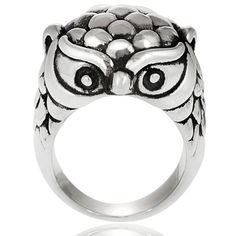 @Overstock - Tressa Sterling Silver Owl Ring - Tressa Owl ring  Hollow sterling silver  Click here for ring sizing guide  http://www.overstock.com/Jewelry-Watches/Tressa-Sterling-Silver-Owl-Ring/7618968/product.html?CID=214117 $33.99