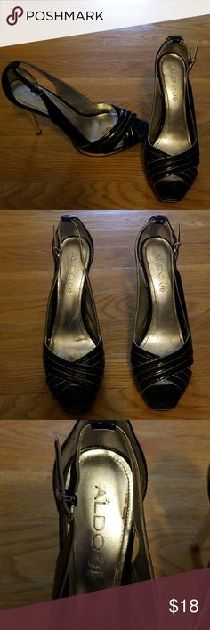 Aldo Vero Cuoio Pumps Good condition   Signs of wear in the shoe and a little on the heel  Missing padding on left heel. Please see picture 6 Aldo Shoes Heels