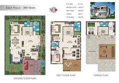 Gayatri gardens 300 Yards Villas Floor Plan
