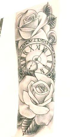 amazing clock tattoos ideas ross tattoo ideas tattoos, s Forarm Tattoos, Forearm Sleeve Tattoos, Dope Tattoos, Best Sleeve Tattoos, Baby Tattoos, Tattoo Sleeve Designs, Body Art Tattoos, Tattoos For Guys, Clock Tattoos