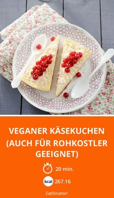 Veganer Käsekuchen (auch für Rohkostler geeignet) - smarter - Zeit: 20 Min. | eatsmarter.de