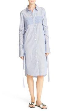 TIBI Removable Strap Stripe Shirtdress. #tibi #cloth #