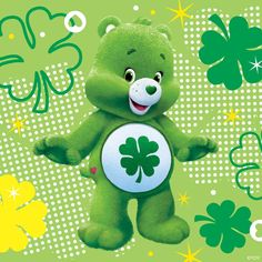 Cb Pebbles And Bam Bam, Care Bears Vintage, Bear Illustration, Cute Love Cartoons, St Patricks Day, Cute Wallpapers, Gift Tags, Coloring Pages, Hello Kitty