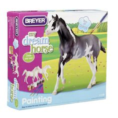 Paint Your Own Horse Activity Kit - Quarter Horse and Saddlebred and thousands more of the very best toys at Fat Brain Toys. Paints, brushes and a detailed Thoroughbred Horse, Breyer Horses, Horse Markings, American Paint Horse, Horse Crafts, Paint By Number Kits, Craft Activities, Craft Kits, Painting