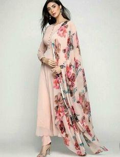 Indian designer suits - Adorable Straight plain Salwar suit with Digital printed dupatta Pakistani Dress Design, Pakistani Outfits, Indian Outfits, Indian Dresses, Anarkali Dress, Lehenga Choli, Saree, Indian Attire, Indian Wear