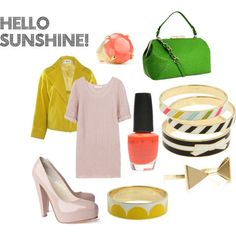 My neon inspired dream outfit. Polyvore is so fun. #polyvore