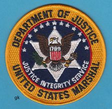 US MARSHAL DEPARTMENT OF JUSTICE PATCH