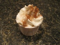 Pumpkin Spice Pudding Shots - I used 3/4 milk to 3/4 cup alcohol.  Wonder how it would be with Hiriam Walker's Pumpkin Spice Liquor...