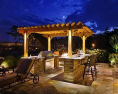 Outdoor Grilling Station With Pergola - Victor Santana - Outdoor Grilling Station With Pergola A grilling station creates an inviting spot for family and friends to gather outside. The pergola offers some coverage and defines the outdoor kitchen area. Outdoor Grill Area, Outdoor Grill Station, Outside Grill, Patio Grill, Outdoor Grilling, Patio Bar, Bbq Grill, Outdoor Entertaining, Grill Gazebo