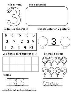 Números hasta el 10 - modificado Preschool Number Worksheets, Kindergarten Math Activities, Numbers Preschool, Math Literacy, Preschool Education, Math Numbers, Fun Math, Learning Spanish, Kids Learning