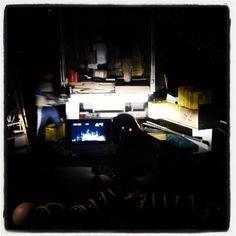 #rain#adunas#retraso#delay#camion pero al final llego.. #odisea .Esta #noche trabajaremos hasta que quede montado el #stand by #nanodelarosa#diariodetrabajo##rossettidifussion.