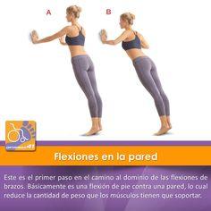 Para personas con menos resistencia física, esta es la manera más sencilla de empezar a hacer #flexiones.