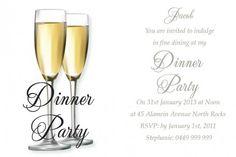 16 best dinner party invitations ideas images on pinterest elegant affair postcard in white invitation stopboris Choice Image