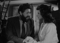 Michel Simon and Viviane Romance in Panique [Panic] (1946) Directed by Julien Duvivier