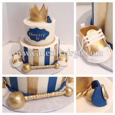 Little prince baby shower cake - B. - Baby Tips - Idee Baby Shower, Baby Shower Cakes For Boys, Boy Baby Shower Themes, Baby Shower Gender Reveal, Baby Boy Shower, Baby Shower Decorations, Balloon Decorations, Prince Birthday Party, Baby Boy Birthday