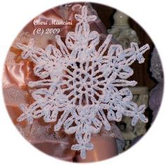 Shimmering Lace Snowflake - free crochet pattern