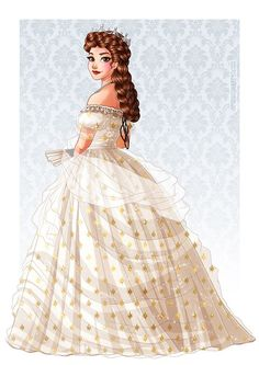 Commission of Sissi Loosely based on Winterhalter's portrait with the diamond star dress. Art (c) me Please don't crop, edit or redistribute. Character Inspiration, Character Art, Character Design, Princesa Sissi, Dibujos Tumblr A Color, Belle Beauty And The Beast, Phantom Of The Opera, Disney Fan Art, Disney Drawings
