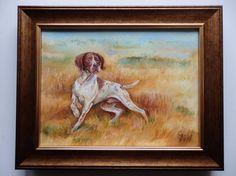 POINTER DOG PORTRAIT Original Oil Painting by CanisArtStudio