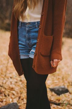 shorts + tights + slouchy cardigan **India Earl Photography**