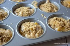 Homemade peach muffins made with canned peaches. These delicious muffins can be made year round using canned diced peaches. Quick and easy muffins with a detailed recipe to follow. These peach muffins are a perfect for breakfast, brunch or a midday snack. Peach Muffin Recipes, Fresh Peach Recipes, Peach Muffins, Peach Juice, Canned Peaches, Fruit Stands, 2000 Calories, Baking Flour
