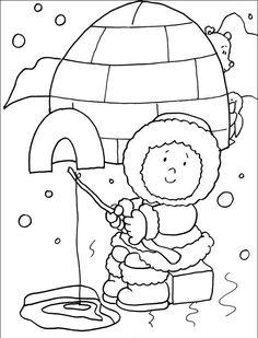 eskimo coloring page