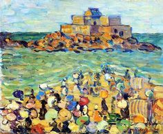 15-0084 - Chateaubriand's Tomb, St. Malo by Maurice Prendergast, 1startclub.com
