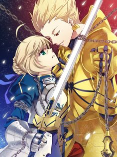 Gilgamesh and Saber