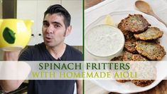 Spinach Fritters Recipe with Homemade Yogurt Aioli