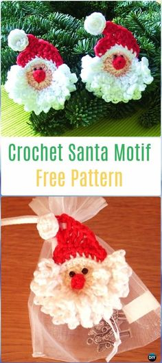 Crochet Santa Motif Free Pattern - Crochet Santa Clause Free Patterns