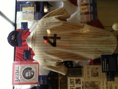Lou Gehrig's jersey at the Yankee museum at Yankee stadium.