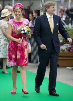 King Willem-Alexander and queen Maxima visit the state Flevoland on 19 June 2013
