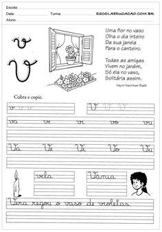 Atividade de caligrafia letra V