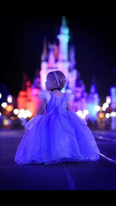 Beautiful picture to take at night in front of Cinderella's castle!