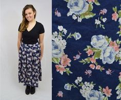 Hey, I found this really awesome Etsy listing at https://www.etsy.com/listing/226337263/pleated-skirt-floral-long-maxi-large-xl