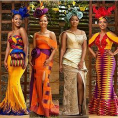 Creative Aso Ebi Styles to Check Out African Prom Dresses, African Dresses For Women, African Attire, African Wear, African Fashion Dresses, African Women, African Outfits, Long Dresses, Kente Styles