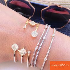 These gorgeous Gabriel & Co. diamond bracelets are stunning for any time of the year! This is perfect arm candy for every day outfits day and night. Check more of our bracelets out at www.gabrielny.com or on our instagram @gabrielandco