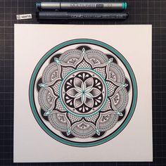 Mandala Designs, woerm: Daily mandala #18 All men dream, but not...