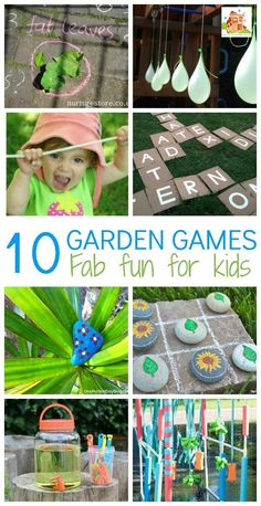 10 Great Kids Garden Games.    Getting out in the garden is a great way to encourage children to be active and also you often find that if you start them off with an activity, they continue to play for a lot longer than you anticipated as their imagination does the rest.  Here I share 10 garden games which are gab fun for kids and great to play in the yard or the garden.