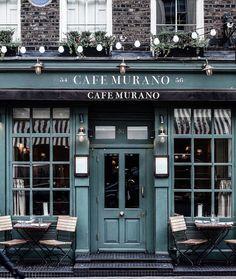 See more ideas about cafe shop, cafe exterior and store fronts. Café Restaurant, Restaurant Design, Cafe Murano, Cafe Exterior, Shop Facade, Coffee Shop Design, Cafe Shop, Cafe Bar, Cool Cafe