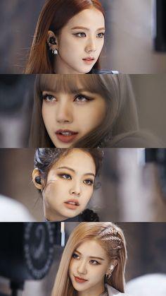 Check out Blackpink @ Iomoio Kim Jennie, Kpop Girl Groups, Kpop Girls, Blackpink Youtube, Blackpink Poster, Mode Kpop, Blackpink Members, Lisa Blackpink Wallpaper, Blackpink Video