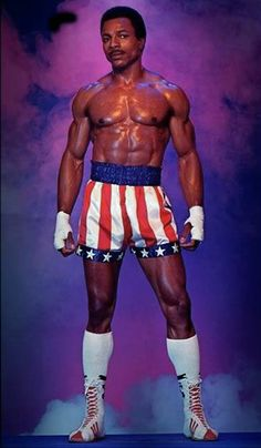 """Apollo Creed (Carl Weathers) - """"Eye of the tiger, Balboa. It's all in you and there is no tomorrow. Rocky Balboa, Rocky Film, Stallone Rocky, Creed Movie, Apollo Creed, Silvester Stallone, Carl Weathers, Films Cinema, Black Actors"""