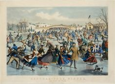 Central Park, Winter – The Skating Pond After a painting by Charles Parsons  (American (born England), Hampshire 1821–1910 New York) Artist: Lithographed by Lyman W. Atwater (American, 1835–1891) Publisher: Published and printed by Currier & Ives (American, active New York, 1857–1907) Date: 1862 Medium: Hand-colored lithograph