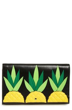 kate spade new york 'wing it - tally' leather clutch