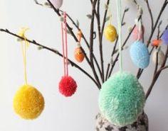 Pasen - Lente - Paastakken met zachte pom pom eitjes - Piece of Make
