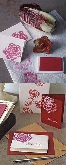 Make Flower Stamp From Cabbage